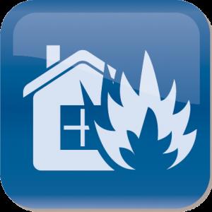 fire damage service icon