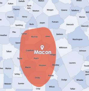 macon service area