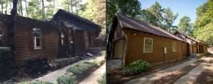 before and after fire damage