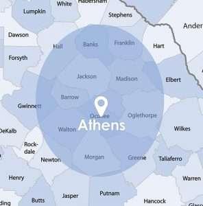 blue athens map