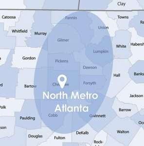 blue atlanta map