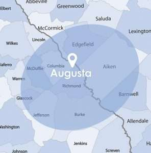 blue augusta map