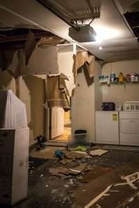 water damage laundry room